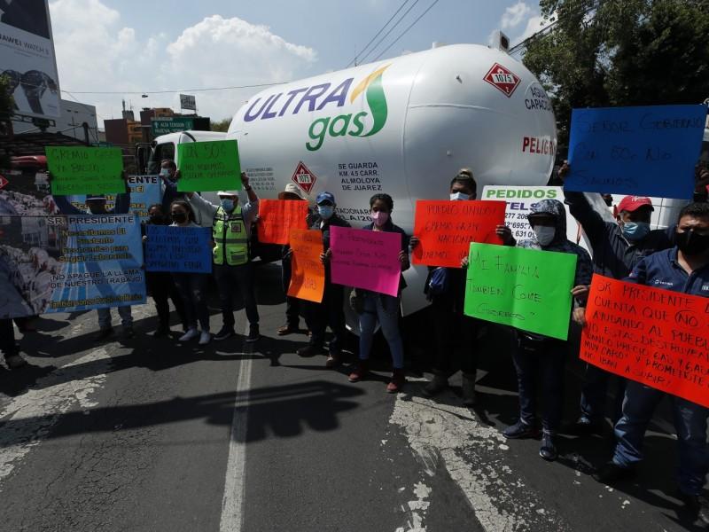Gaseros continuarán con paro en Valle de México