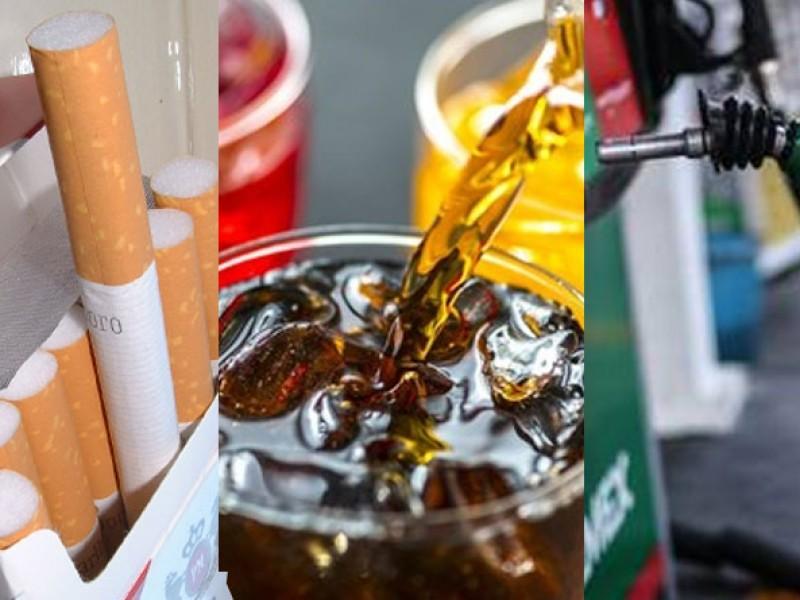 Gasolina, tabaco y refrescos tendrán aumento por inflación de 3.3%