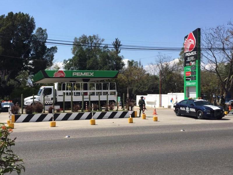 Gasolinera clausurada por ventas irregulares en San Jacinto Amilpas