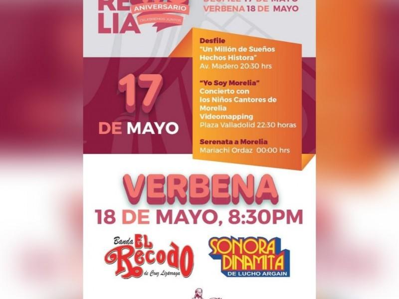 Gastarán 3mdp en festejos por aniversario de Morelia