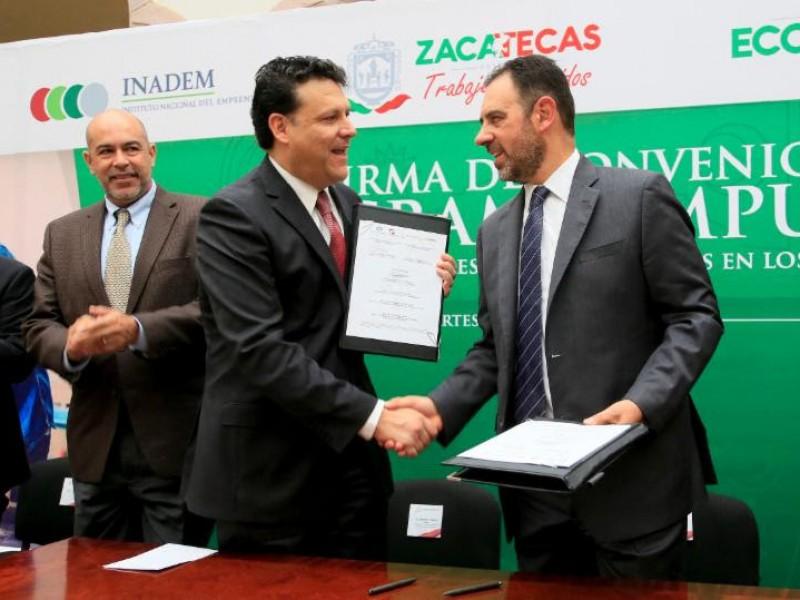 Generan convenio para impulsar a emprendedores zacatecanos