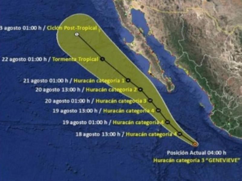 Genevieve se convierte en huracán categoría 3