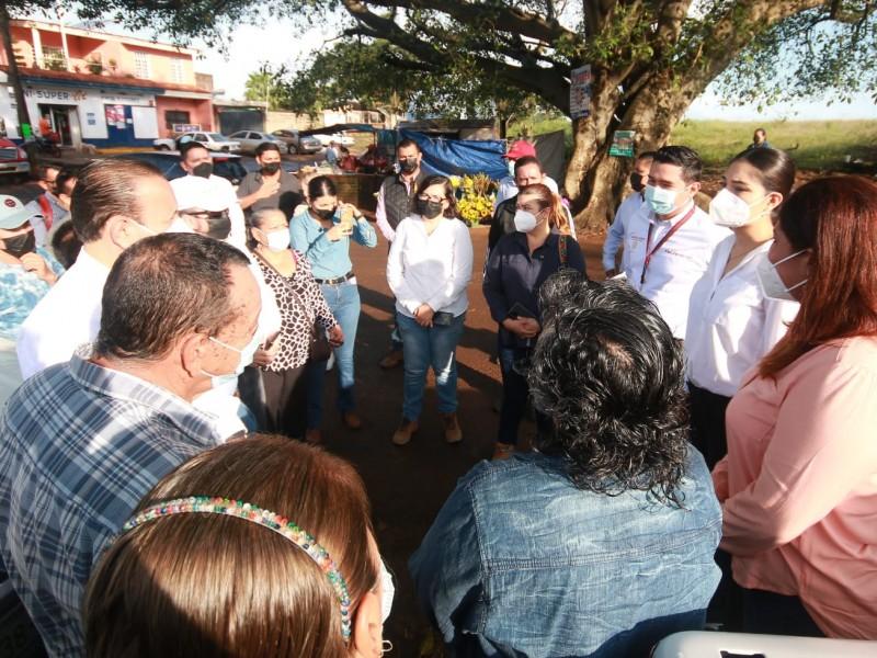 Geraldine Ponce supervisa obras de infraestructura carretera en zona rural