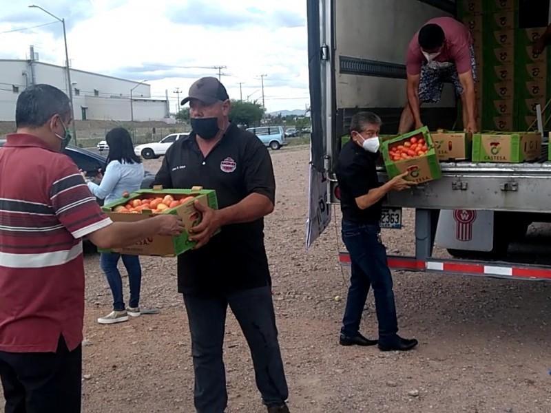 Gestiona PRI varias toneladas de tomate para donar en Nogales
