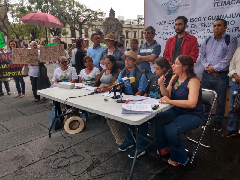 Gobierno no debe decidir futuro del agua: Temacapulín