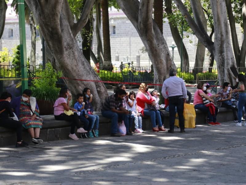 Gran afluencia de personas tras reapertura del zócalo de Puebla