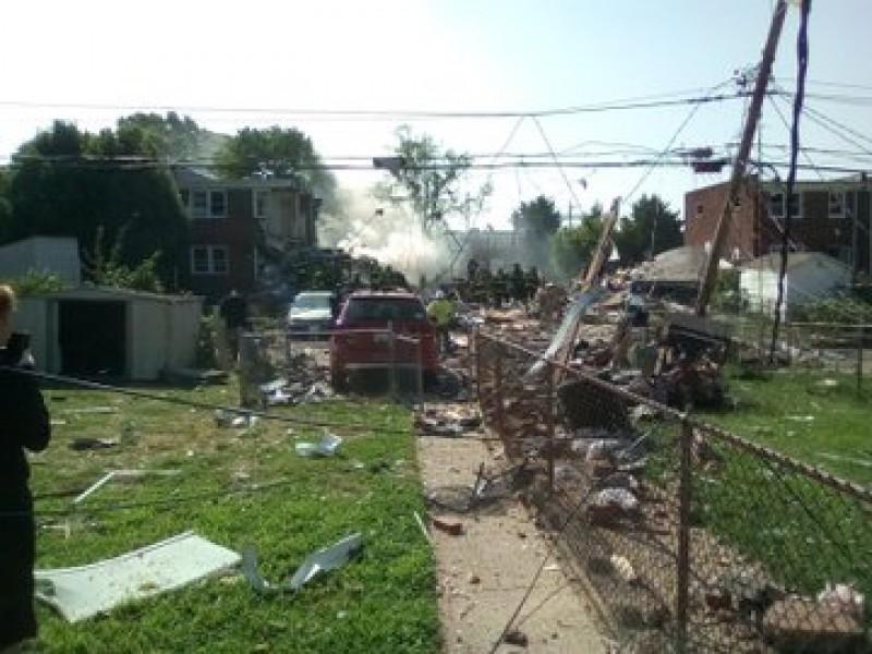 Gran explosión en zona residencial de Baltimore