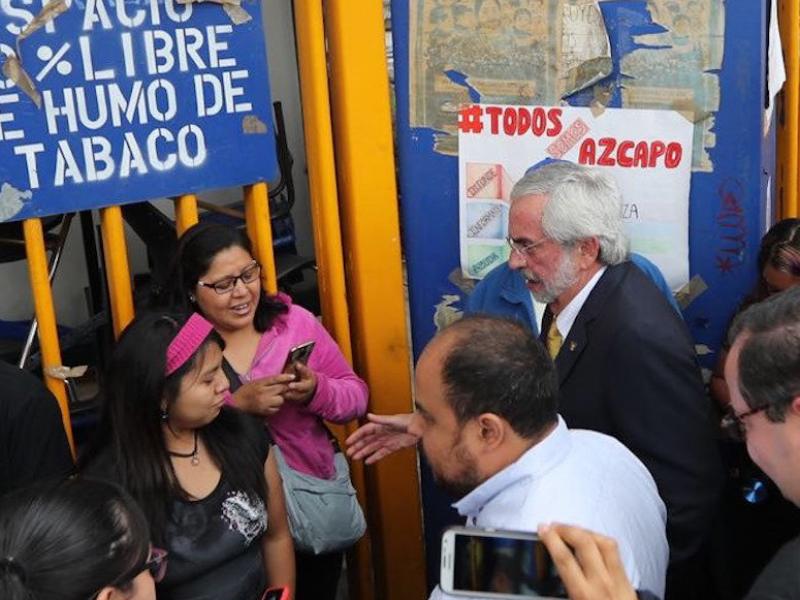 Graue dialoga con estudiantes en el CCH Azcapotzalco