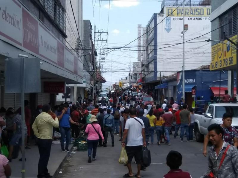 Grezca entre municipales y ambulantes en Tuxtla Gutiérrez