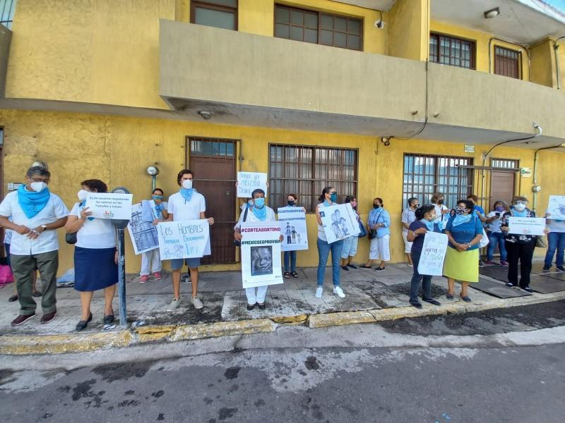Grupos Provida se manifiestan en contra del aborto