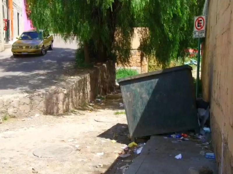 Guanajuato, la recolección de basura por los suelos