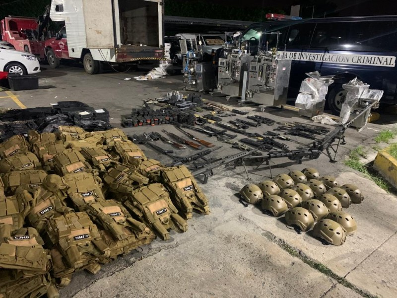 Guardia Nacional asegura arsenal en Lagos de Moreno