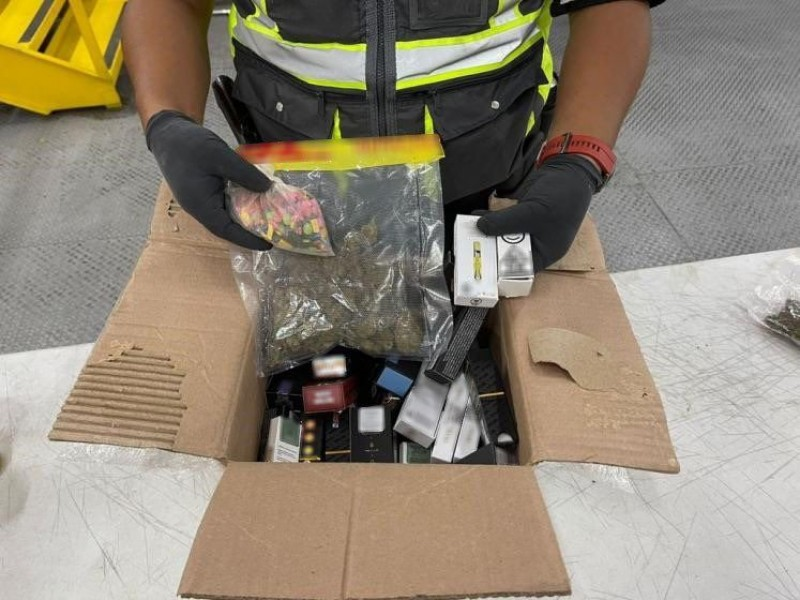 Guardia Nacional decomisa pastillas de éxtasis y mariguana en AIQ