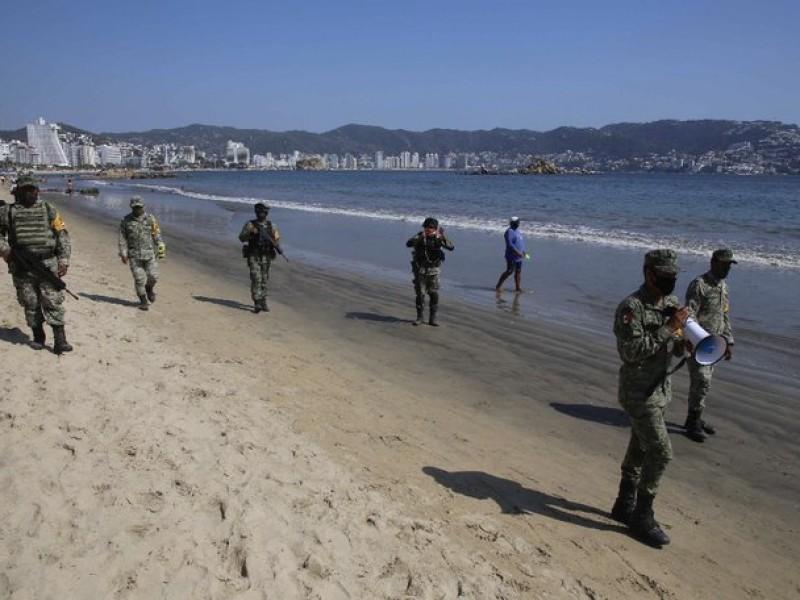 Guardia Nacional y Sedena, ya vigilan las playas de Guerrero