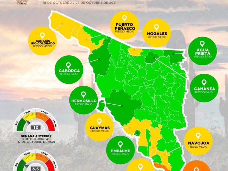 Guaymas permanece en semáforo amarillo, Empalme pasa a verde