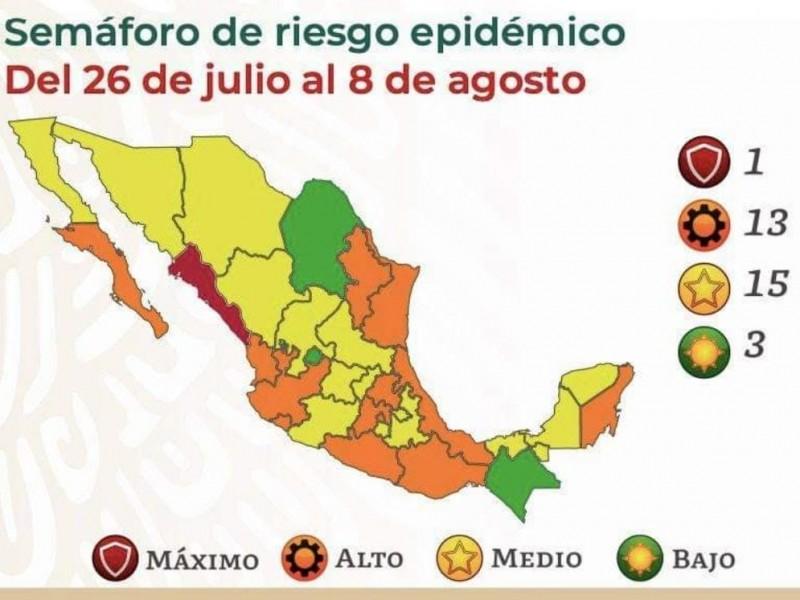Guerrero a semáforo naranja desde el lunes 26 de Julio