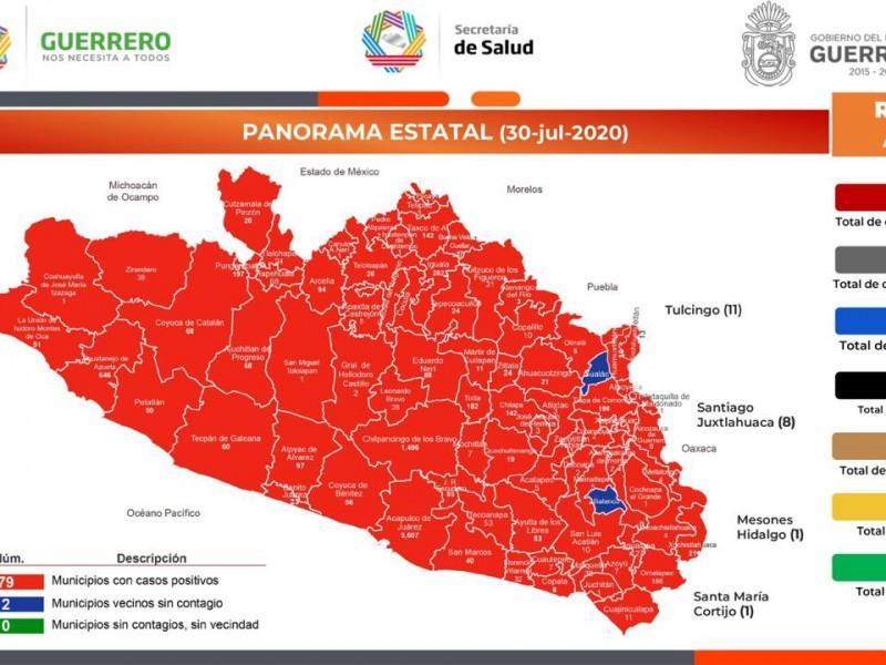 Guerrero acumula 10,654 casos Covid-19 y 1,390 defunciones