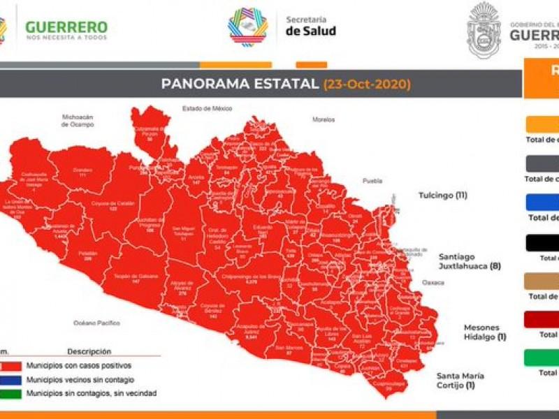 Guerrero acumula 21,667 casos y 2,184 defunciones por COVID-19