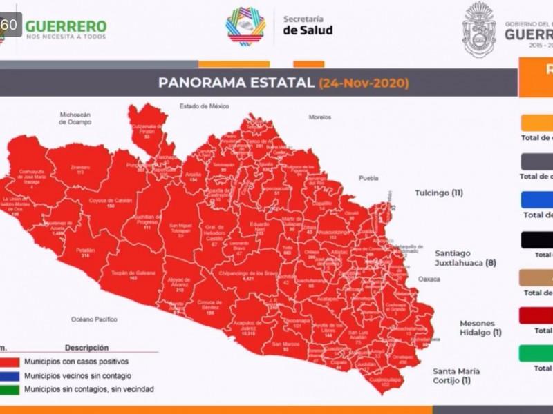Guerrero acumula 23, 362 contagios y 2,443 muertes por COVID-19