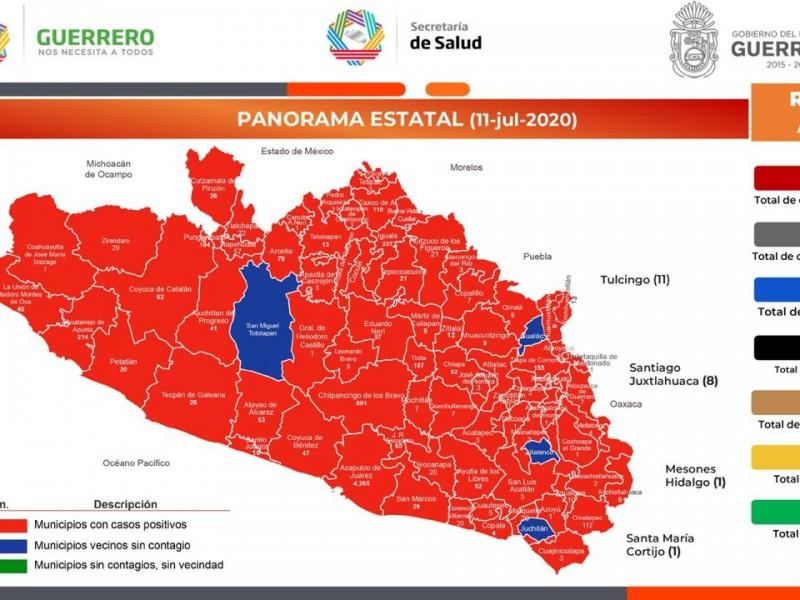 Guerrero acumula 7,305 casos confirmados de Covid-19 y 1,082 decesos