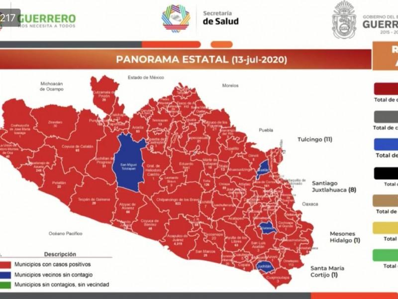 Guerrero acumula 7,609 casos positivos de Covid-19