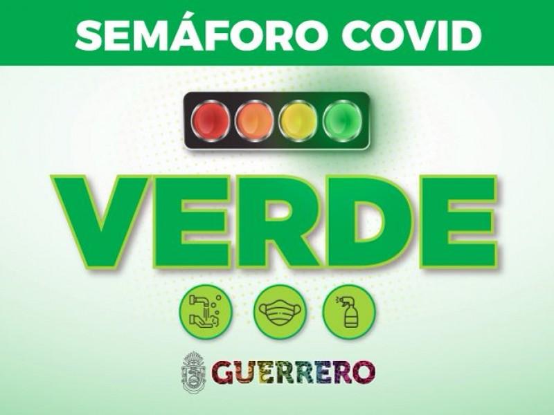 Guerrero permanecerá en semáforo verde hasta el 31 de octubre