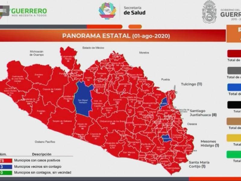 Guerrero supera los 11 mil casos confirmados de Covid-19
