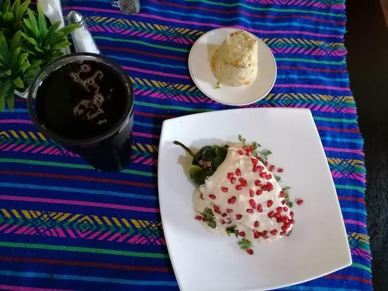 Una delicia local: el chile en nogada