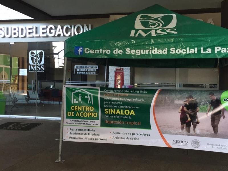 Habilita IMSS centro de acopio para Sinaloa