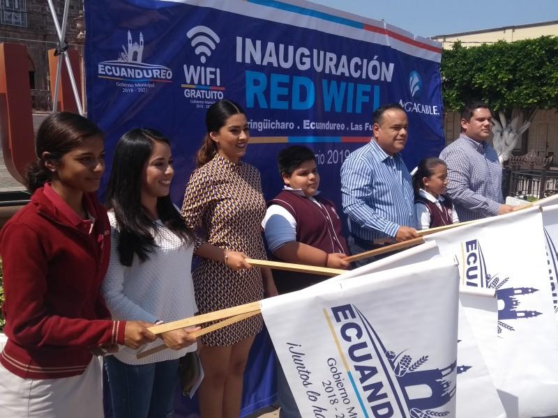 Habilitan internet gratuito en espacios públicos de Ecuandureo