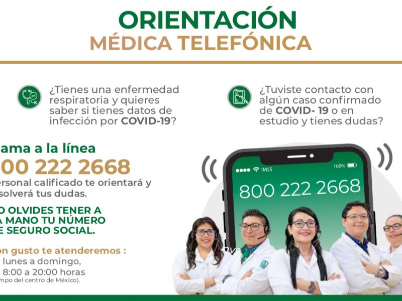 Habilitó IMSS línea de orientación médica