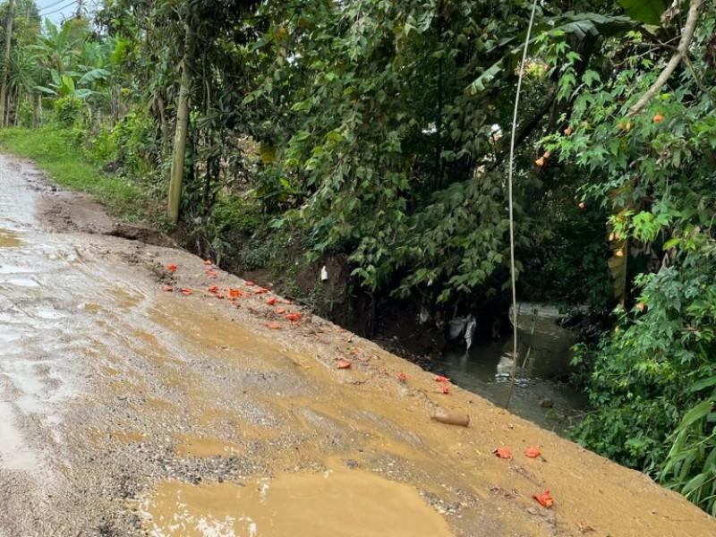 Habitantes de Emiliano Zapata solicitan pavimentación de vialidad