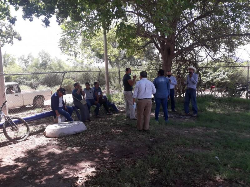 Habitantes de goritos se manifiestan en planta potabilizadora de SM
