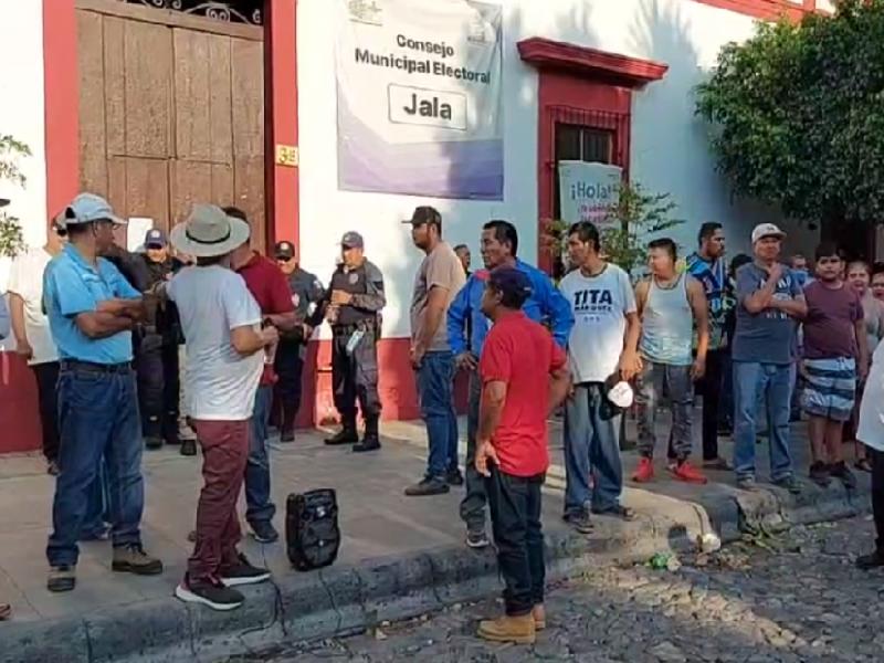 Habitantes de Jala piden anulación de las elecciones