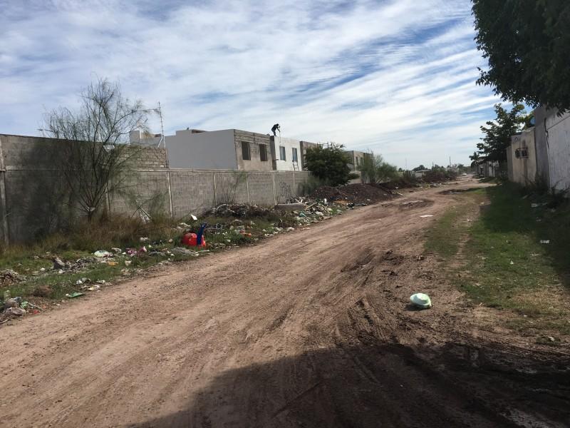 Habitantes de Jardines de Villa viven entre basura y escombro