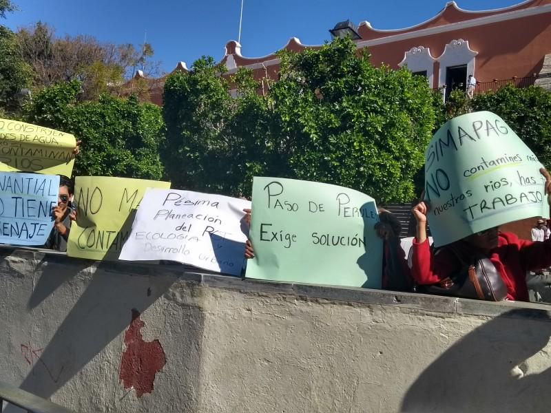 Habitantes de Perules se manifestaron en el Simapag