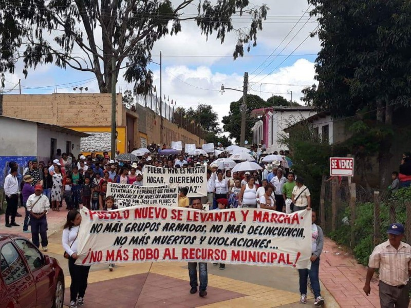 Habitantes de Pueblo Nuevo piden paz