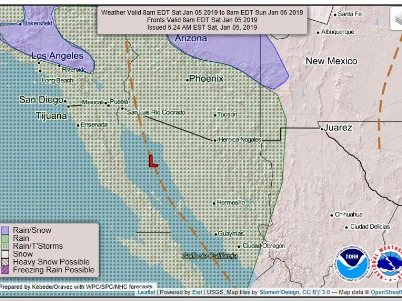 Habrá nublados en gran parte de Sonora