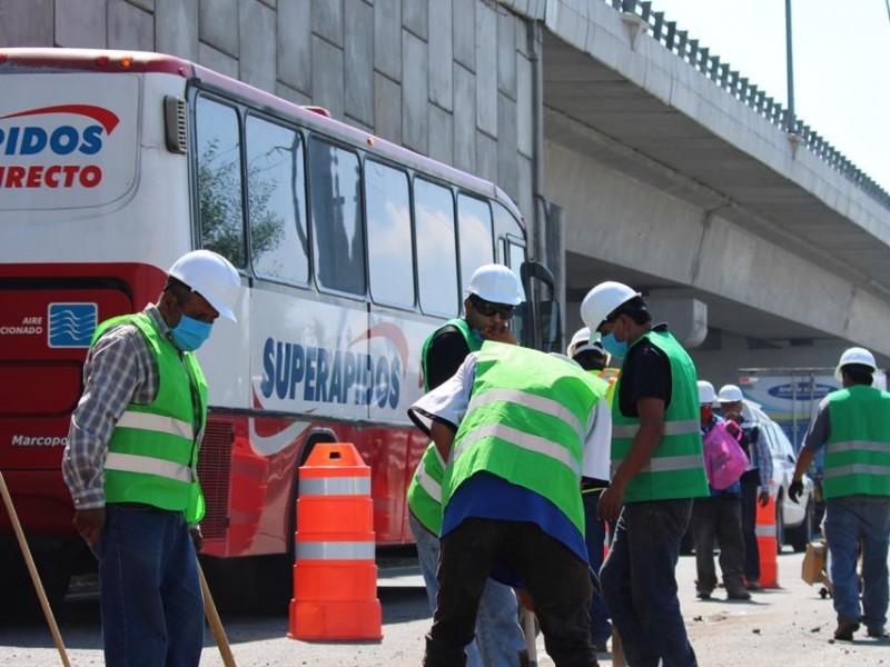Habrá reducción de carriles en la México-Puebla