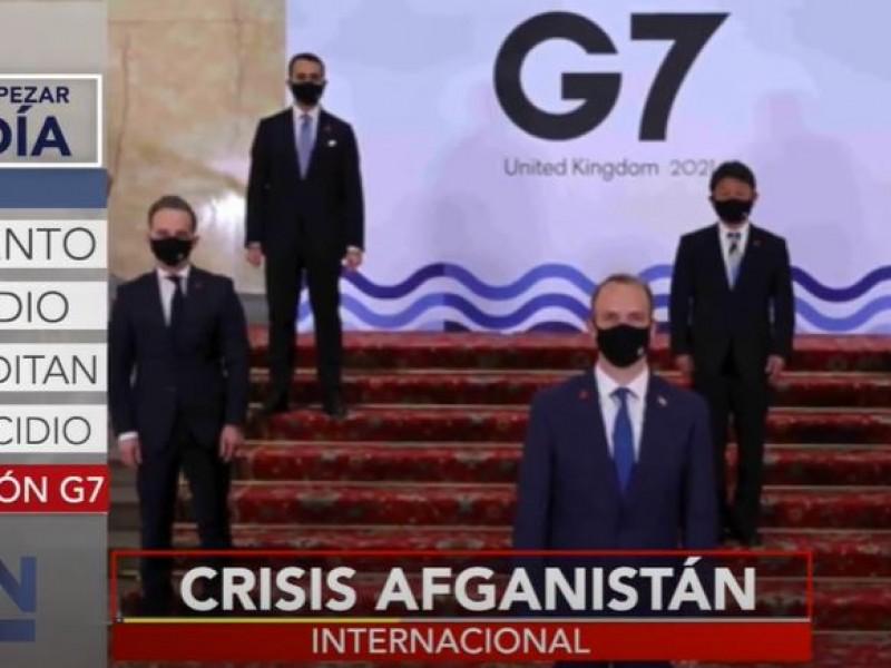 Habrá reunión especial del G7 por crisis en Afganistán