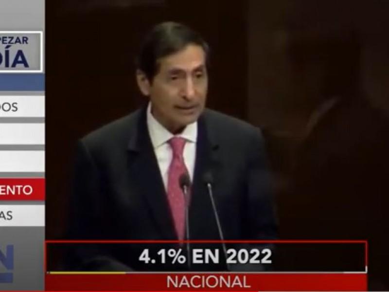 Hacienda estima crecimiento de 4.1% para 2022