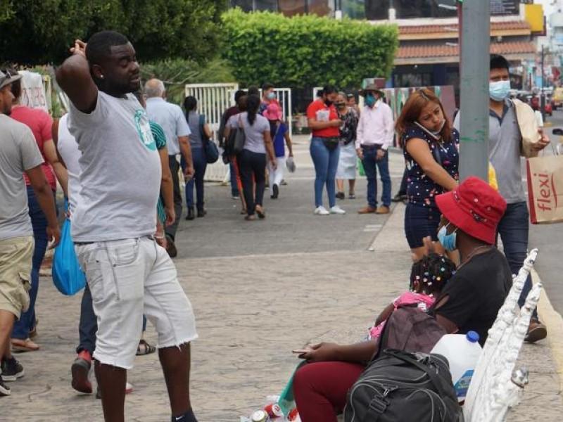 Haitianos abarrotan la frontera sur