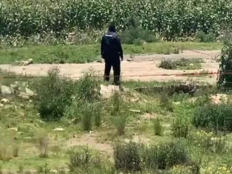 Hallan cuerpo de masculino en terrenos de Ciudad Serdan