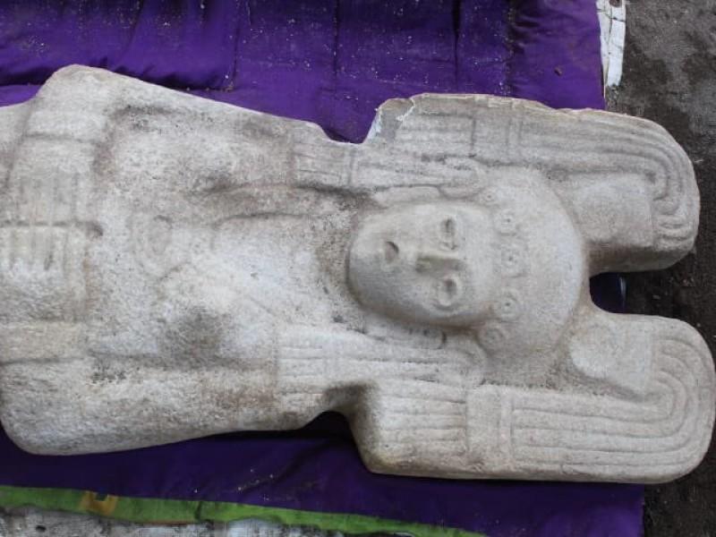 Hallan escultura de mujer en Veracruz:INAH