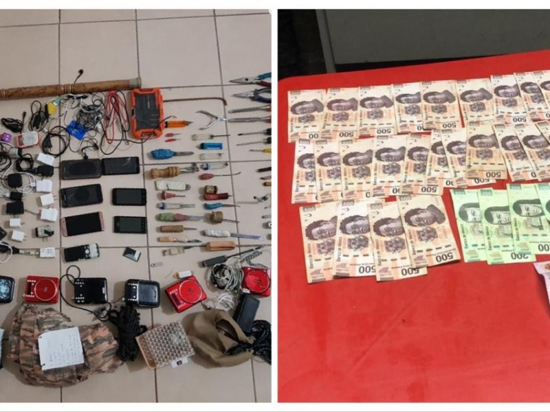 Hasta armas hallan durante operativo en penal de Ciudad Serdán