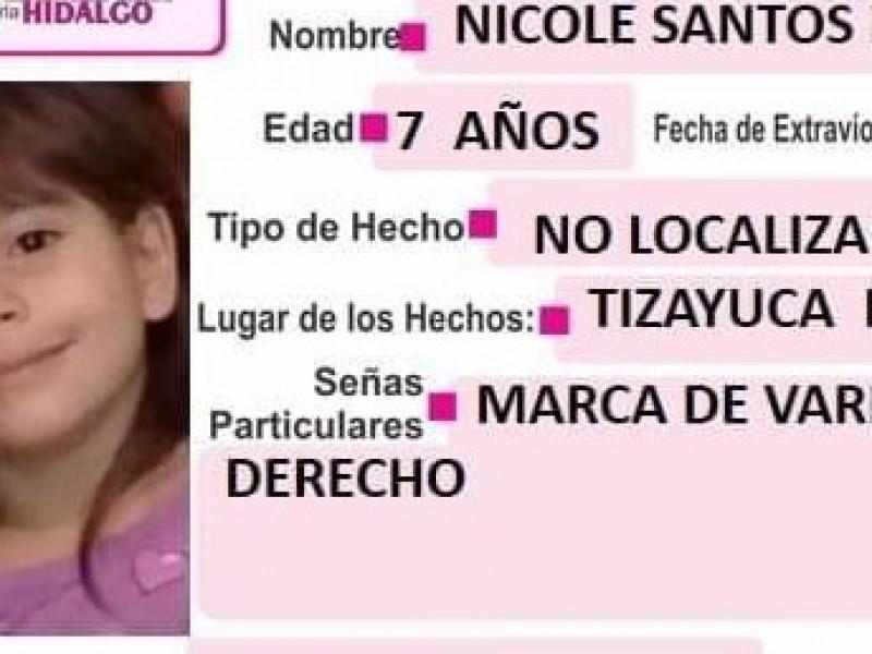 Hallan muerta a Nicole, niña desaparecida en Tizayuca, Hidalgo