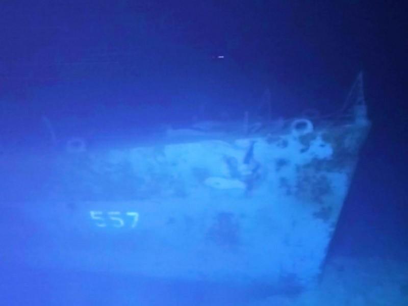 Hallan un barco americano hundido en la Segunda Guerra Mundial
