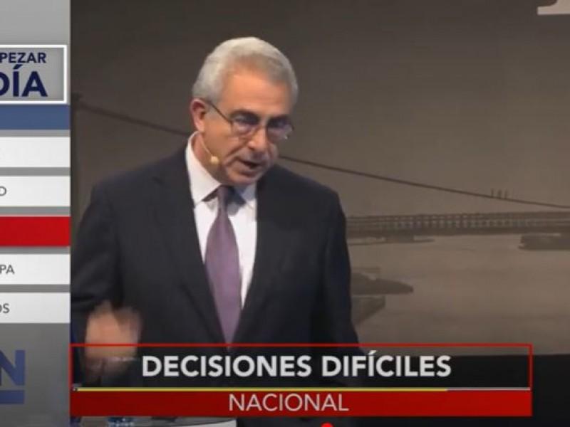 Hay que tomar decisiones difíciles pero necesarias: Ernesto Zedillo