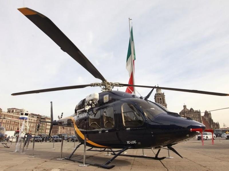 Helicóptero traslada a especialistas en quemaduras