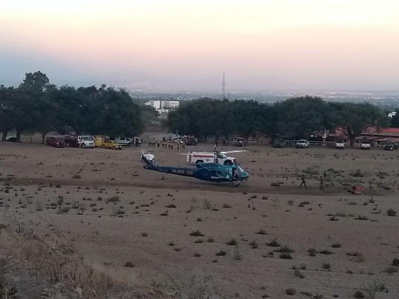 Helicópteros reanudan combate al fuego en La Primavera